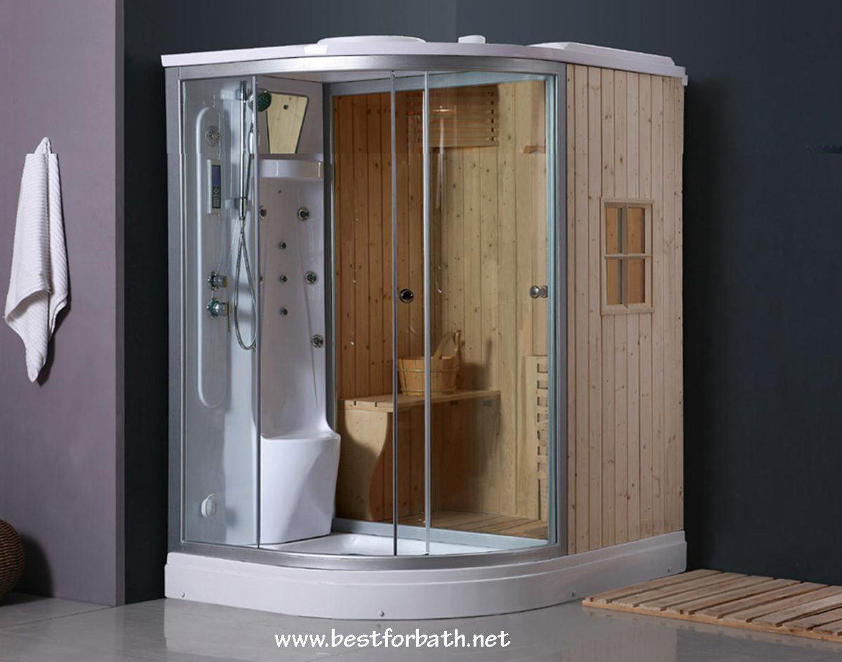 Steam Shower Enclosure with Traditional Sauna 	B001 display Sale - Image 1