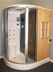 Steam Shower Enclosure with Traditional Sauna 	B001 display Sale - Image 3