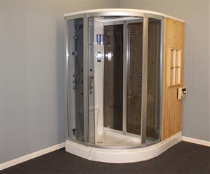 Steam Shower Enclosure with Traditional Sauna 	B001 display Sale - Image 19