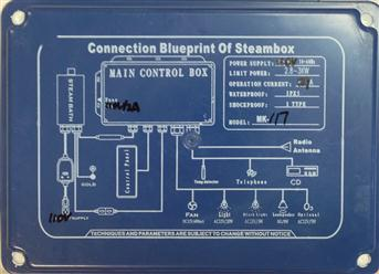 Connection Blueprint of steambox ,Main contrrol Box, host box MK117 (A-170) - Image 3